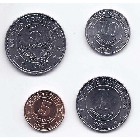 Nicaragua - Série de 4 pièces différentes