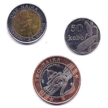 Nigeria - Série de 3 pièces différentes