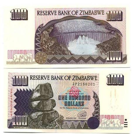 Zimbabwe - Pk No. 9 - $ 100 bill