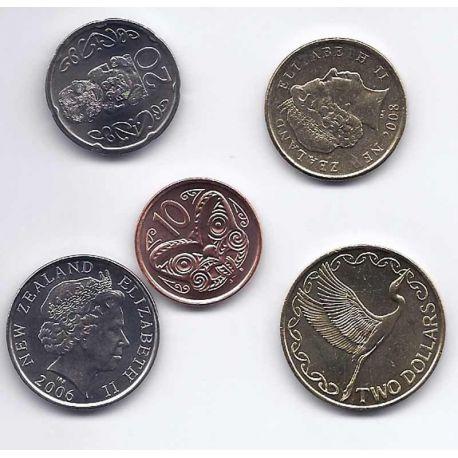 Nlle Zelande - Série de 5 pièces différentes