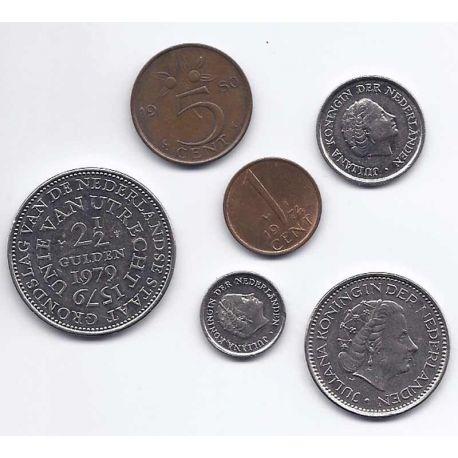 Pays Bas - Série de 5 pièces différentes