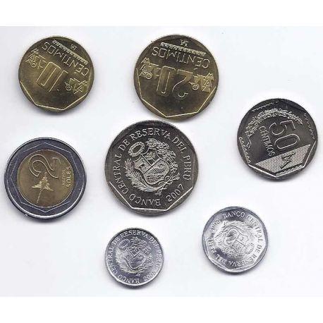 Perou - Série de 7 pièces différentes