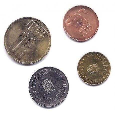 Roumanie - Série de 4 pièces différentes