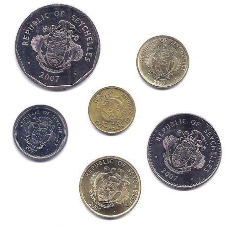 Seychelles - Série de 6 pièces différentes