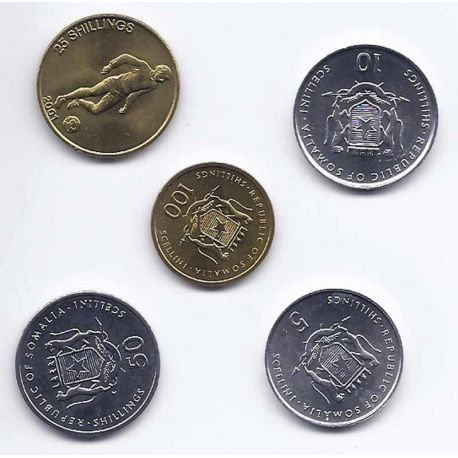 Somalie - Série de 5 pièces différentes