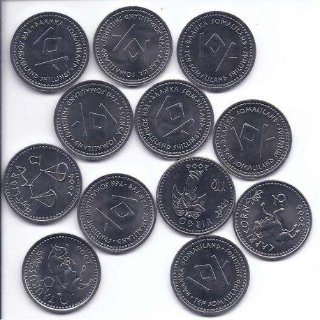 Somaliland - Série de 12 pièces différentes