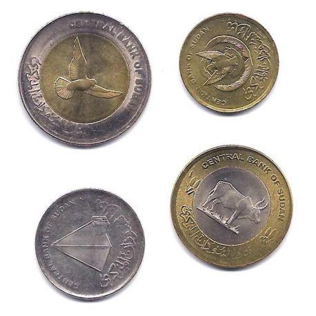 Soudan - Série de 4 pièces différentes