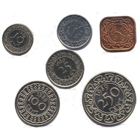 Surinam - Série de 6 pièces différentes