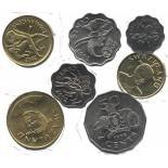 Swaziland - serie di 7 monete diverse