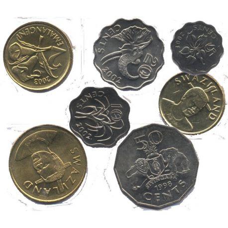 Swaziland - Série de 7 pièces différentes
