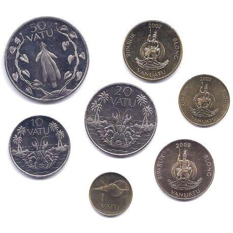 Vanuatu - Série de 7 pièces différentes