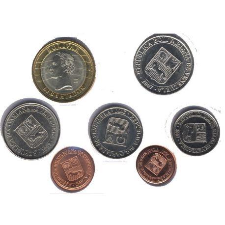 Venezuela - Série de 7 pièces différentes