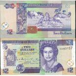 Banknoten Belize Pick Nummer 60 - 2 Dollar 1999