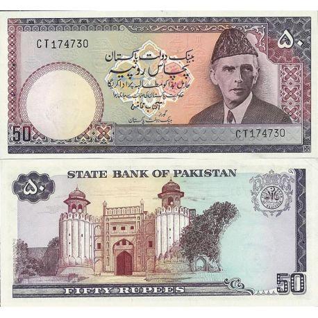 Billets de collection Pakistan Pk N° 30 - 50 Ruppee