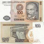 Billets de collection Perou Pk N° 132B - 100 Intis