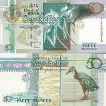 Collection of Banknote Seychelles Pick number 38 - 50 Roupie