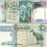 Collezione di banconote Seychelles Pick numero 38 - 50 Roupie