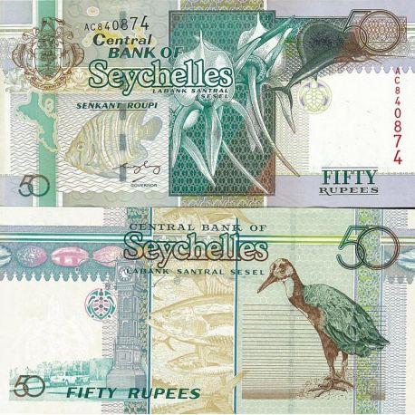Seychelles - Pk N° 38 - Billet de 50 Ruppes