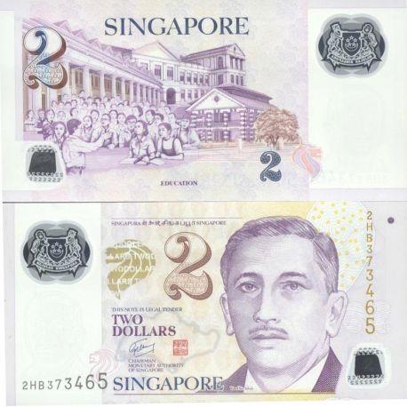 Billets de collection Singapour Pk N° 46 - 2 Dollar