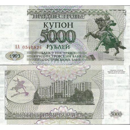 Trans-Denestria - Pk N° 28 - Billet de 5 000 Rublei