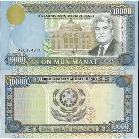 Billets de collection Billets de collection Turkmenistan Pk N° 10 - 10 000 Manats Billets du Turkmenistan 10,00 €
