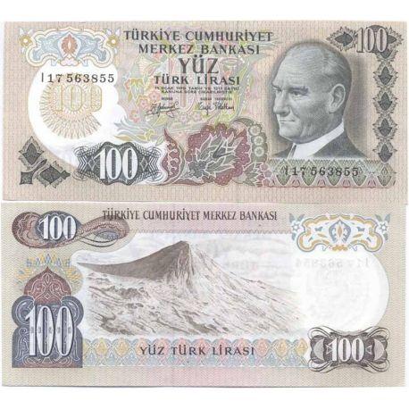 Billets de collection Turquie Pk N° 189 - 100 Lira