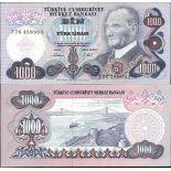 SammlungsBanknoten die Türkei Pk Nr. 191 - 1000 Lire