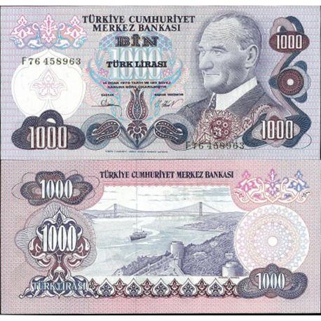 Billets de collection Turquie Pk N° 191 - 1000 Lira