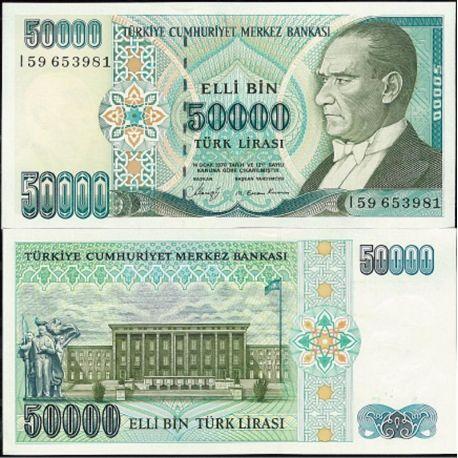 Billets de collection Turquie Pk N° 203A - 50 000 Lira