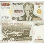 Billets de collection Turquie Pk N° 210 - 5 millions Lira