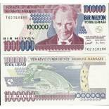 Billets de collection Turquie Pk N° 213 - 1 millions Lira