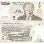 Billets de collection Turquie Pk N° 217 - 5 Lira