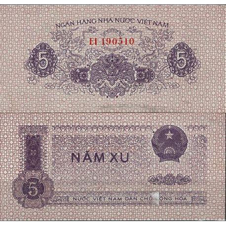 Vietnam Nord - Pk N° 76 - Billet de 5 Dong