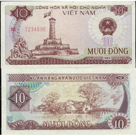 Billets de collection Vietnam Nord Pk N° 93 - 10 Dong
