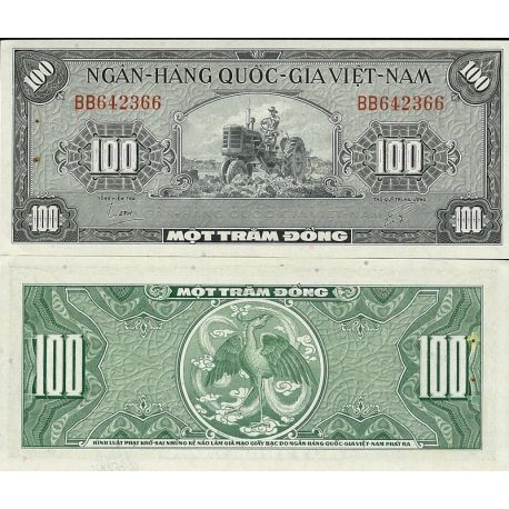 Billets de collection Billets de collection Vietnam Sud Pk N° 8 - 100 Dong Billets du Vietnam Sud 20,00 €
