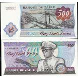Billets de collection Zaire Pk N° 30B - 500 Zaires