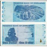 Billets de collection Zimbabwe Pk N° 92 - 1 Dollars