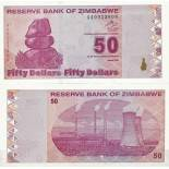 Billets de collection Zimbabwe Pk N° 96 - 50 Dollars