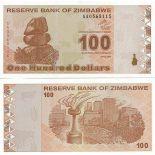 Billets de collection Zimbabwe Pk N° 97 - 100 Dollars