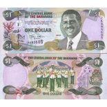 Banknote Bahamas Pick number 69 - 1 Dollar 2001