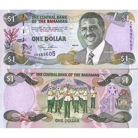 Billets de banque Bahamas Pk N° 69 - 1 Dollar