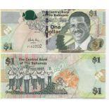 Schone Banknote Bahamas Pick Nummer 71 - 1 Dollar 2008