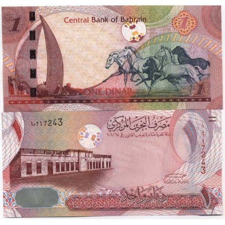 Billets de collection Billets collection Bahrain Pk N° 26 - 1 Dinar Billets du Bahrain 7,00 €