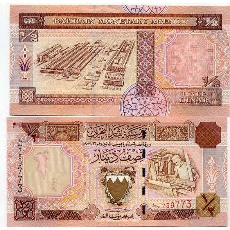 Billets de collection Billet de banque Bahrain Pk N° 17 - 0,5 Dinar Billets du Bahrain 5,00 €