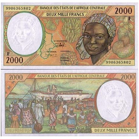 Billets de collection Billet de collection Afrique Centrale Centrafrique Pk N° 303 - 2000 Francs Billets de Centrafrique 24,00 €