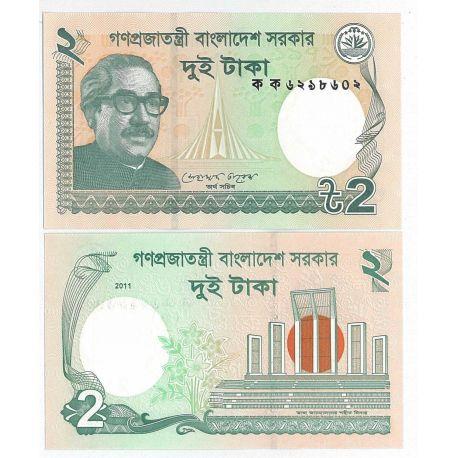 Billets de banque Bangladesh Pk N° 999 - 2 Taka