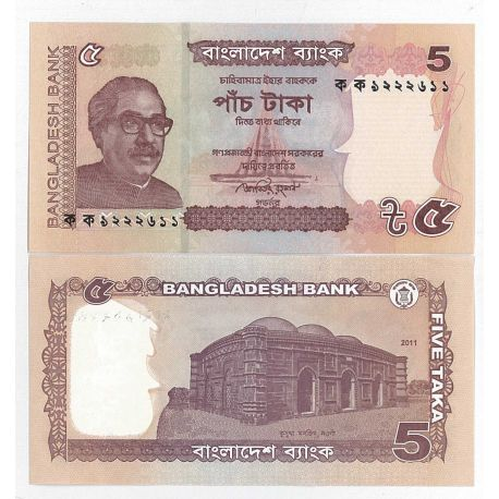 Billets collection Bangladesh Pk N° 53c - 5 Taka