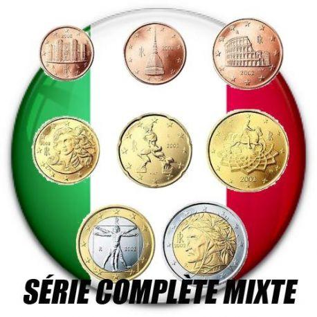 Italie - Série complète de 8 valeurs années mélangées