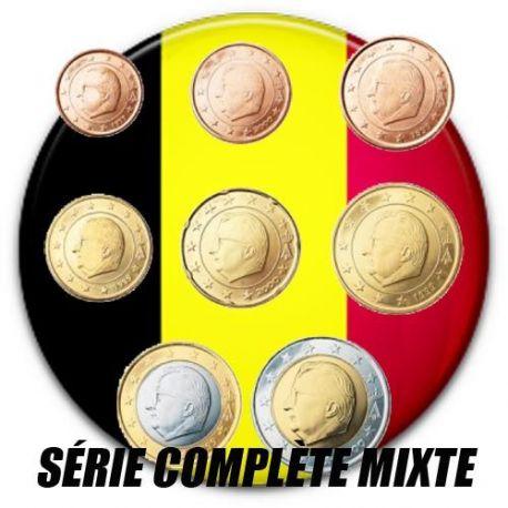 Belgique - Série complète de 8 valeurs années mélangées
