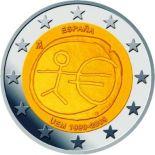 Espagne - 2 Euro 10 ans de l'Euro - 2009